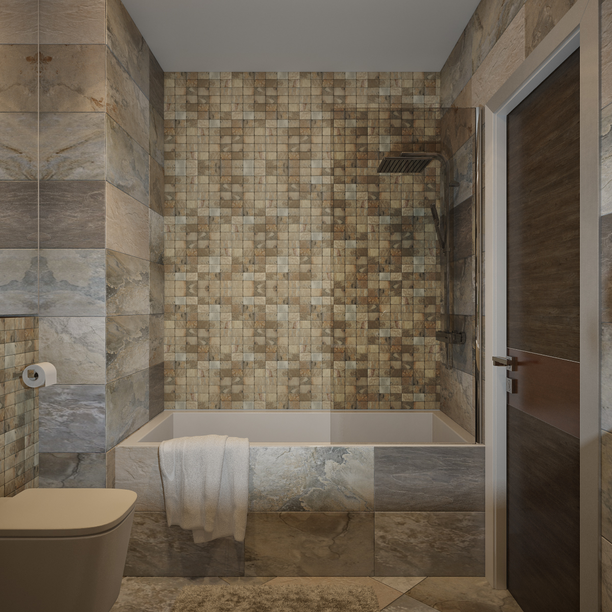 Beautify your bathroom with mosaics for Bathroom mosaic design